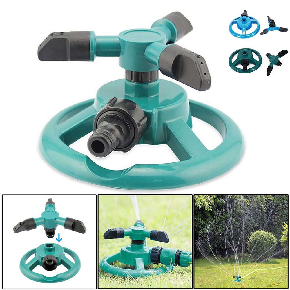 Garden Sprinklers Automatic Watering Equipment Plant Waterer Yard Garden Lawn Sprinklers 360 Degrees Rotating Irrigation System