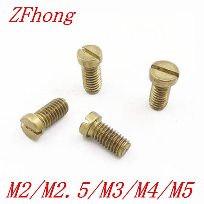 M2.5 Machine Screws Slotted Countersunk Brass 6mm 8mm 10mm Slot Bolt Screw