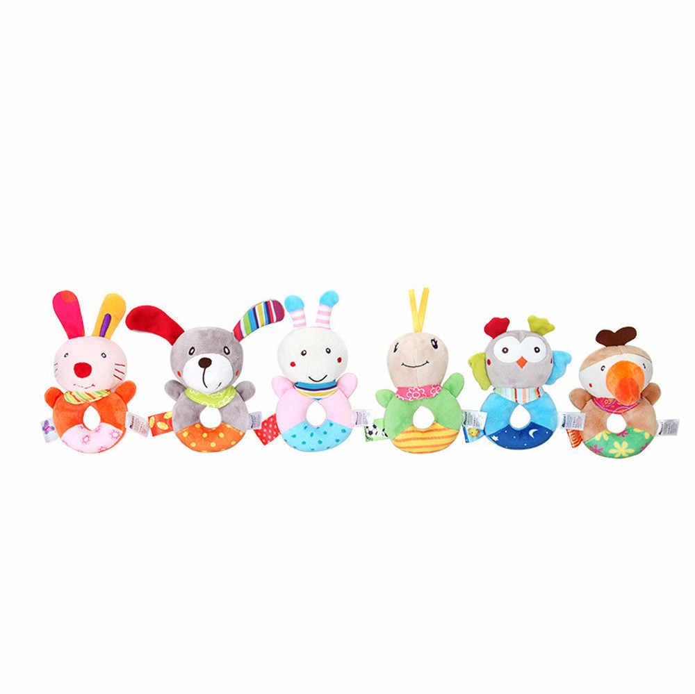 Детская погремушка, детская игрушка в виде животных, колокольчики, Музыкальная развивающая игрушка, колокольчики, погремушки, игрушки в подарок