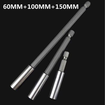 "1/2/3PCS 1/4"" Hex Magnetic Bit Set Holder 60/75/100/150mm Long Handle Screwdriver Bars Extension Drill Driver Hand Tool Socket|Screwdriver|   -"