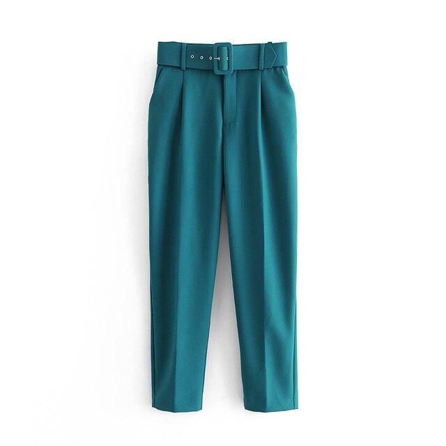 Black suit pants high waist  3