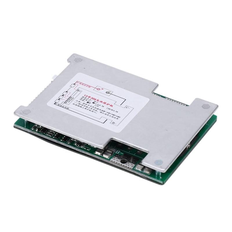 13S 48V 30A Li-Ion Lipolymer Battery Protection Board BMS PCB Board With Balance Heatsink For E-Bike EScooter-Hot