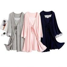 2 PCs/ Lot Modal Cotton Lounge Fashion Summer Pregnant Women Sleeping