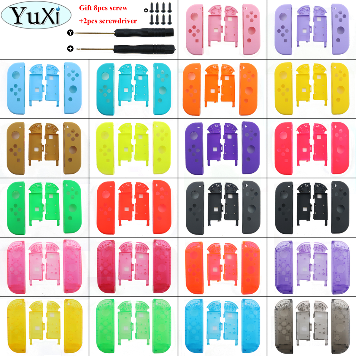 YuXi Multi-Color 23 color for Nintend Switch NS Joy Con Replacement Housing Shell Cover for NX JoyCons Controller shell Case