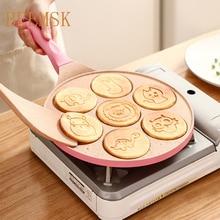 Breakfast-Pan Frying-Pan Multi-Function-Wheel Non-Stick Small Egg-Dumpling Seven-Hole