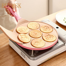 Seven-hole breakfast pan multi-function wheel pancake pan small frying pan egg dumpling non-stick frying pan egg frying mould