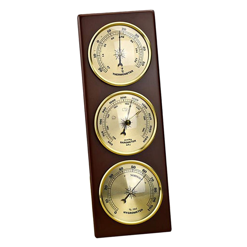 Image 4 - Hot Wall Barometer Thermometer Hygrometer Weather Station Hanging  Home/Office Metal MaterialTemperature Instruments