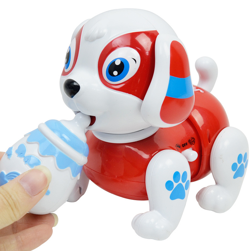 Smart Shilly Dog CHILDREN'S Toy With Light And Music Story Crawling Dog Model Electric Feeding Bottle Dog