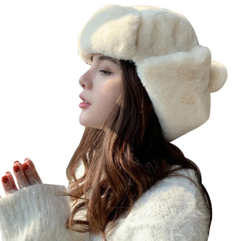 Новинка, женская теплая зимняя Лыжная Шапка-ушанка для русских солдат