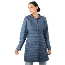 Cotton Jacket QUILTED-PLUS Parka Long-Coat Office Large-Size Women Windproof New 18-521