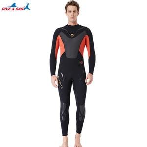 Image 4 - Fullbody Mannen Vrouwen 3Mm Neopreen Wetsuit Surfen Zwemmen Duiken Zeilen Kleding Scuba Snorkelen Koud Water Triathlon Nat Pak