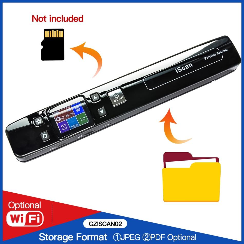 WiFi Draagbare Scanner HD Lcd scherm Handheld Document Scanner A4 Size 1050DPI Ondersteuning JPEG of PDF Ondersteuning 16G SD Micro Kaart-in Scanners van Computer & Kantoor op AliExpress - 11.11_Dubbel 11Vrijgezellendag 1