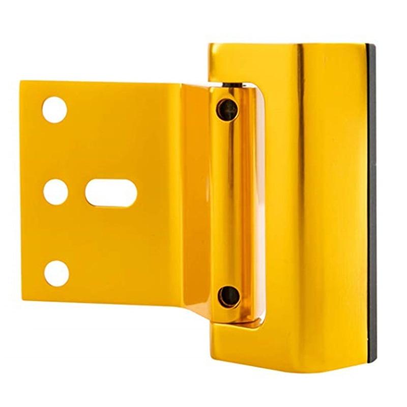 Купить с кэшбэком Aluminium Alloy U Door Reinforcement Lock Security Door Lock Home Child Proof Door Stopper Withstand 800 lbs for Inwa