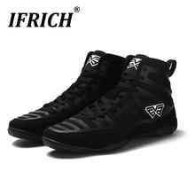 Best Selling Man Wrestling Shoes High Top Boxing Shoe for Men Brand Designer Weightlifting Shoes Mens Breathable Wrestling Boots