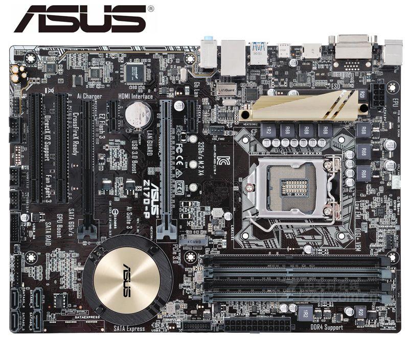 ASUS Z170-P Motherboards DDR4 LGA 1151 Boards USB3.0 USB2.0 HDMI 64GB Z170 USED Desktop Motherboard PC