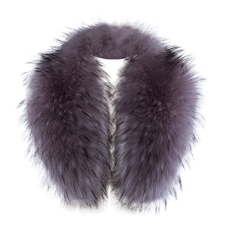 Sexy Women Imitation Faux Fur Fake Collar Plush Collar Down Jacket Cap Warm Scarf