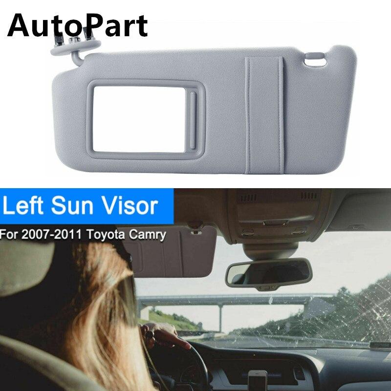 2007-2011 TOYOTA CAMRY TAN SUN VISOR LEFT//DRIVER SIDE NO SUNROOF 74320-33B81-E0