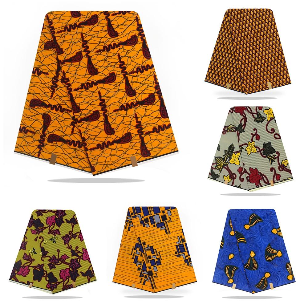African High Quality Pagne Wax Dutch 6yards Veritable Wax Dutch Guaranteed Real Dutch Wax African Ankara Sewing Fabric