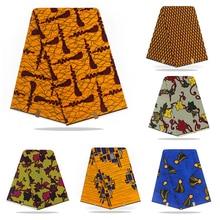 african high quality pagne wax dutch 6yards Veritable guaranteed real ankara sewing fabric