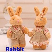 12 шт., 6 пар, маленькие пушистые плюшевые игрушки в виде кролика, миниатюрная кукла-кролик, свадебный подарок, Мини Подвеска с животными, брел...