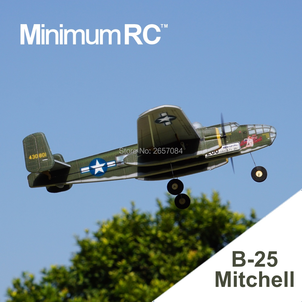MinimumRC B25 Twin-engine bomber 360mm Wingspan 3 Channel Trainer Fixed-wing RC Airplane Outdoor Toys For Children Kids Gifts image