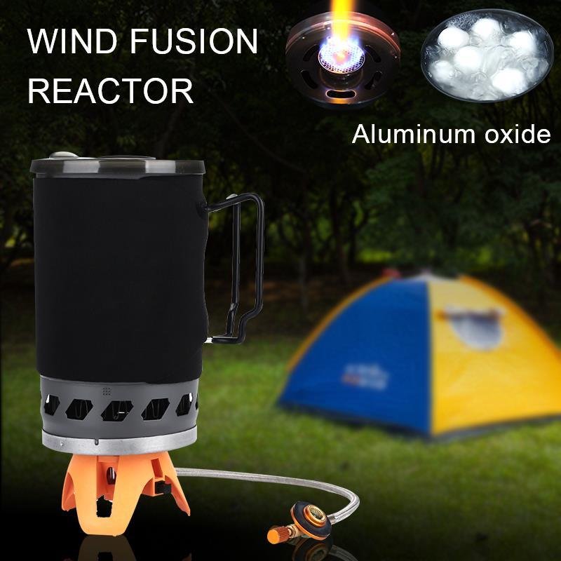 Camping Stove Coal Gas Camp Outdoor Picnic Backpacking Stove Portable Stove Compact Alumina Hiking Wood Burning 1400mL