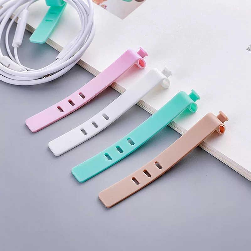 4 Cái/bộ Silicone Cáp Cuốn Gọn Tai Nghe Chụp Tai Tấm Bảo Vệ USB Điện Thoại Phụ Kiện Packe Ban Tổ Chức Sáng Tạo Phụ Kiện Du Lịch 7.5 Cm