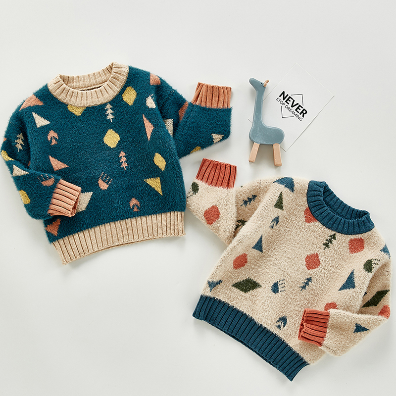Autumn Baby Girls Boys Knitted Sweater Toddler Girls Boy Casual Cartoon Warm Cotton Sweaters Coat Kids Pullovers Sweaters 1