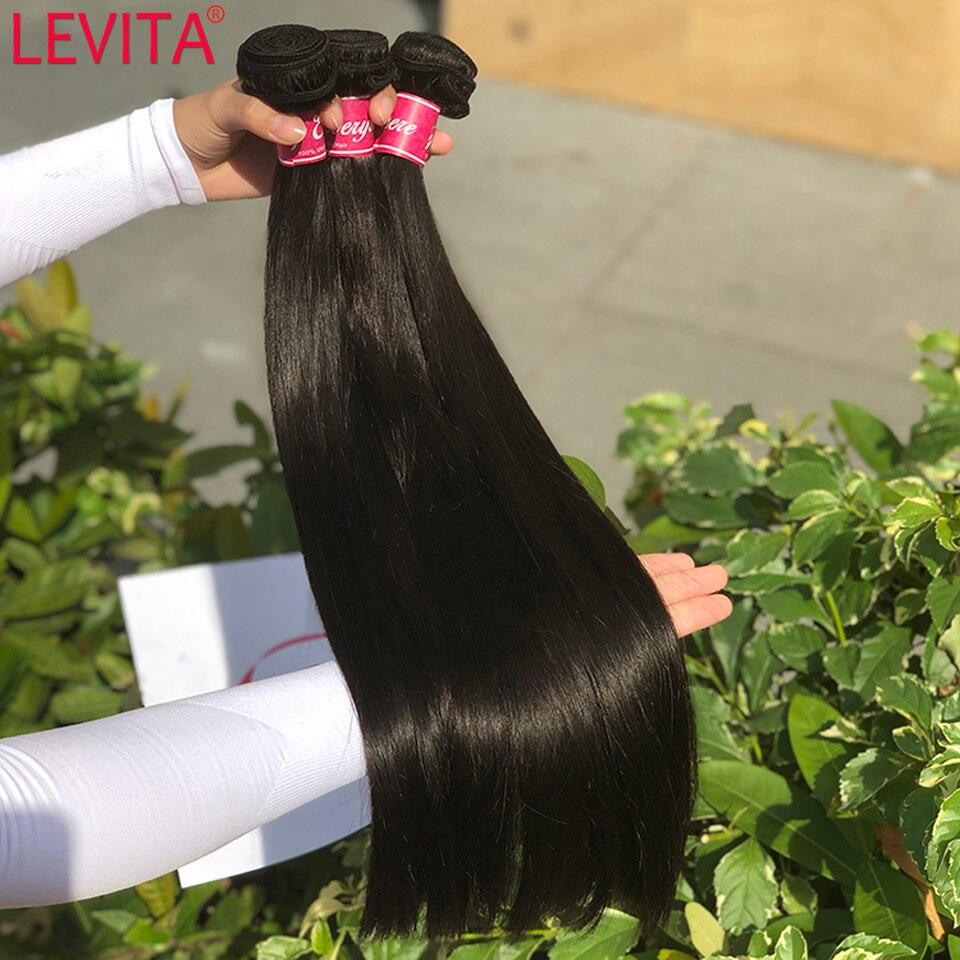 Levita 100% Human Hair Bundles Wholesale Bone Straight Bundles Deals Weft Hair Extension Peruvian Brazilian Hair Weave Bundles