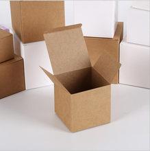 100 sztuk brązowy papier pakowy pudełko do pakowania mydło wyrabiane ręcznie pudło do pakowania małe opakowanie na prezent rzemiosło imprezowe pudełka
