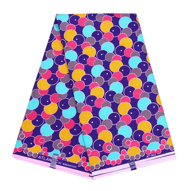 Colorful Dots Printed African Ankara Wax Fabric 100% Pure Polyester High Quality Ankara African Wax Print Fabric For Party