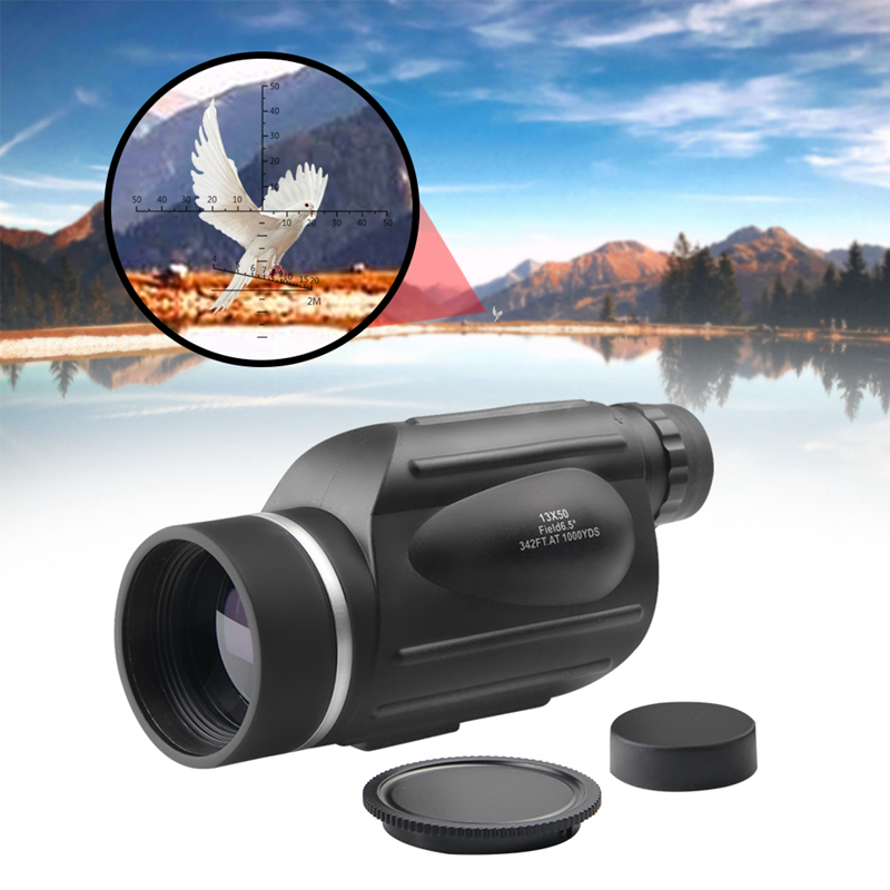 Nitrogen Waterproof 13X50 Monocular High Power Binoculars Rangefinder Telescope BAK4 prism for Hiking Hunting Camping BirdWatch