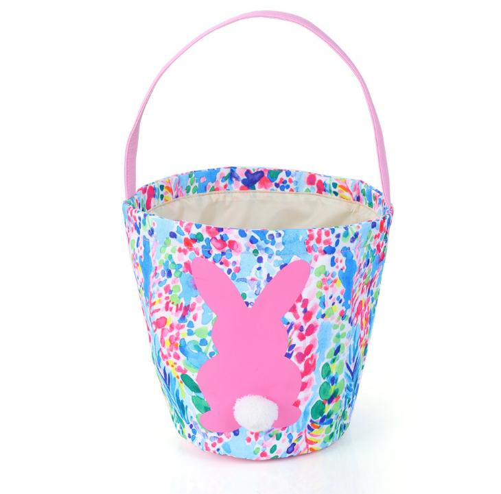 2019 Easter Baskets Bunny Storage Bag DIY Easter Shopping Handbags Tote Easter Egg Candy Gifts Bucket SN2964
