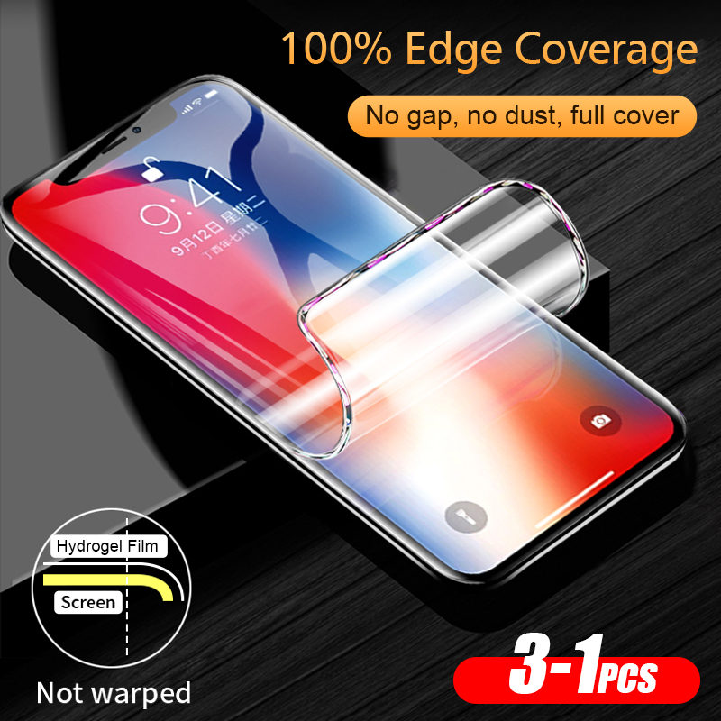 3PCS Full Cover Hydrogel Film For IPhone 11 Pro XR X XS MAX Screen Protector For IPhone 6S 6 7 8 Plus Soft Protective Film