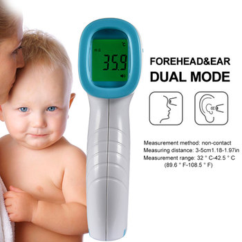 1pcs Non-contact Infrared Thermometer Digital Accurate Forehead Infrared Thermometer IR Hygrometer for Baby Toddlers and Adults