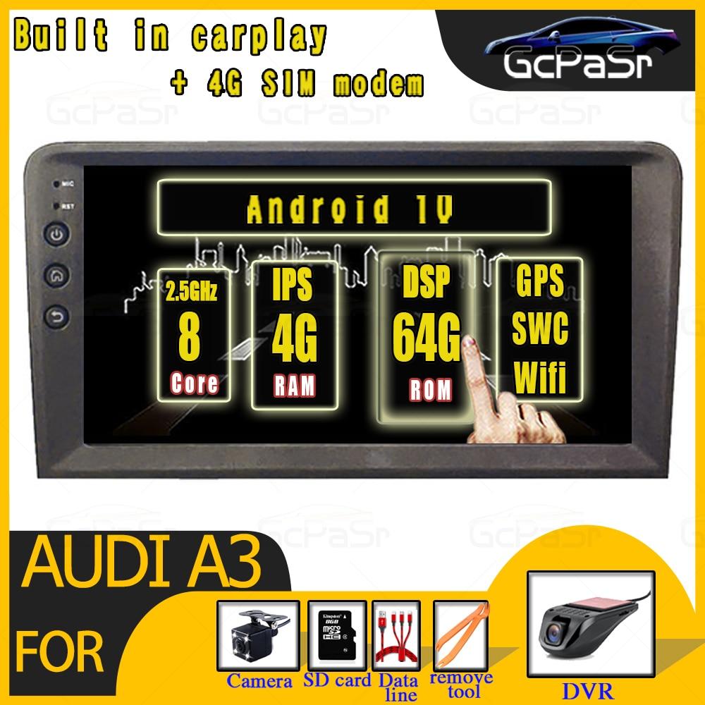 Android10 автомобиль радио мультимедиа для Audi A3 S3 RS3 2003 2004 2005 2006 2007 2008 2009 2010 2011 2012 BT gps навигация, dvd плеер|Мультимедиаплеер для авто|   | АлиЭкспресс