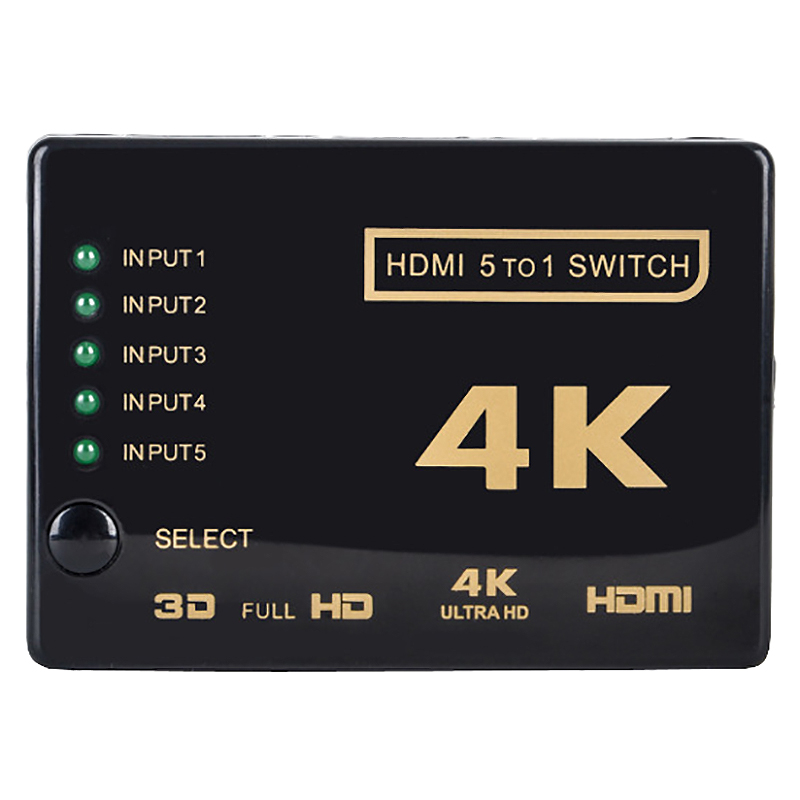 Hot 3C-Multi-Way 4Kx2K 3D 2160P Hdmi Switch Switcher Splitter Ultra Hd For Hdtv Dvd Ps3