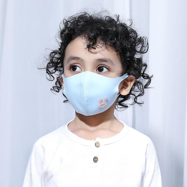 Women Men Kids Animal Black Mouth Mask Anti Dust Windproof Mouth-muffle Bacteria Proof Flu Elastic Face Masks Washable 4