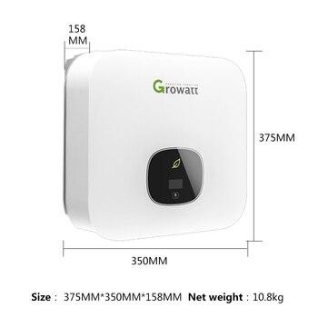 цена на Growatt Inverter On Grid 2500W 3000W 3600W 4200W 5000w 6000W 220V Pure Sine Wave Dual Mppt Inverter Solar System Grid Tie Wifi