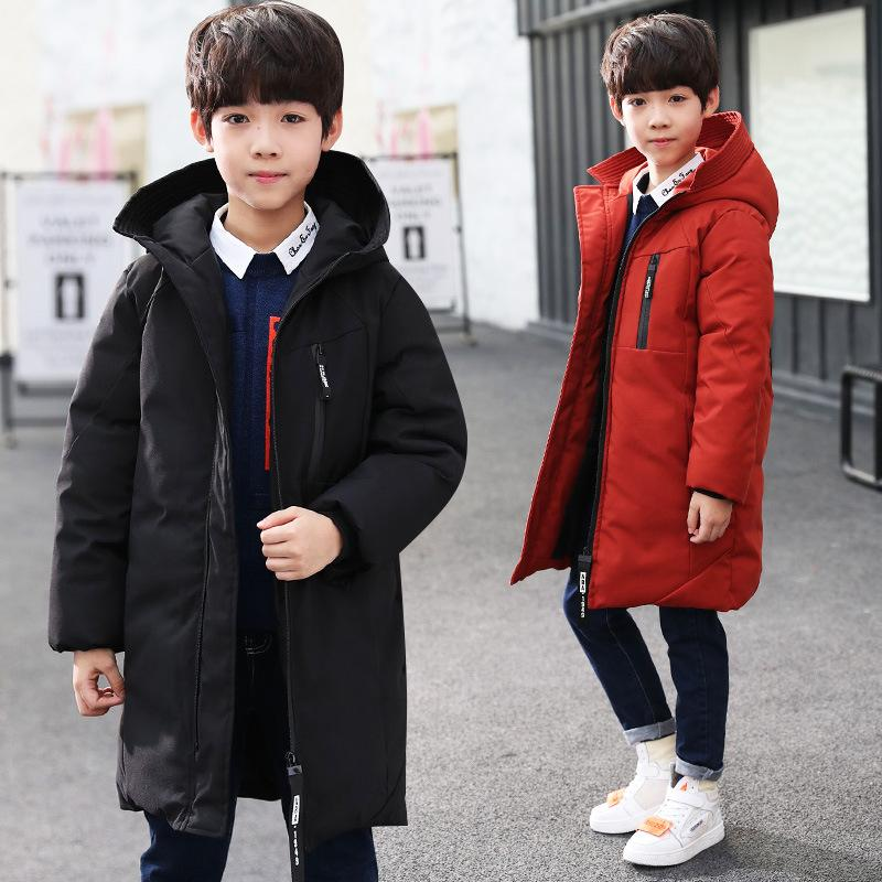 Quilted jacket winter new children's clothing for older children long hooded kids long sleeve coat baby clothes