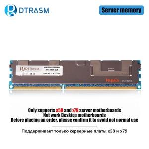 Image 1 - DTRASM DDR3 4GB 8GB 16GB REG ECC server memory 1333MHz 1600MHz 1866MHz dimm REG ram supports X58 X79 motherboard