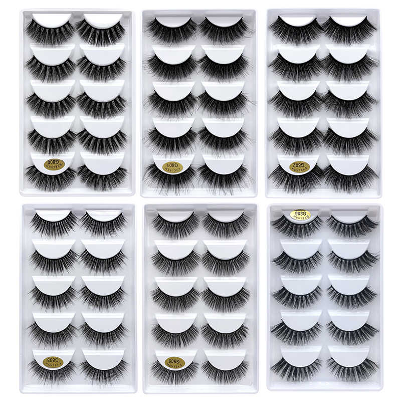 SEXYGO 1/5/10 pairs mink lashes natural 3d mink eyelashes mink false eyelashes full strip lashes wispy cilios g800 cils