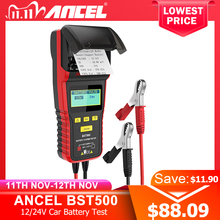 Ancel BST500 12V 24V 자동차 배터리 테스터 열 프린터 자동차 헤비 듀티 트럭 배터리 분석기 배터리 테스트 진단 도구