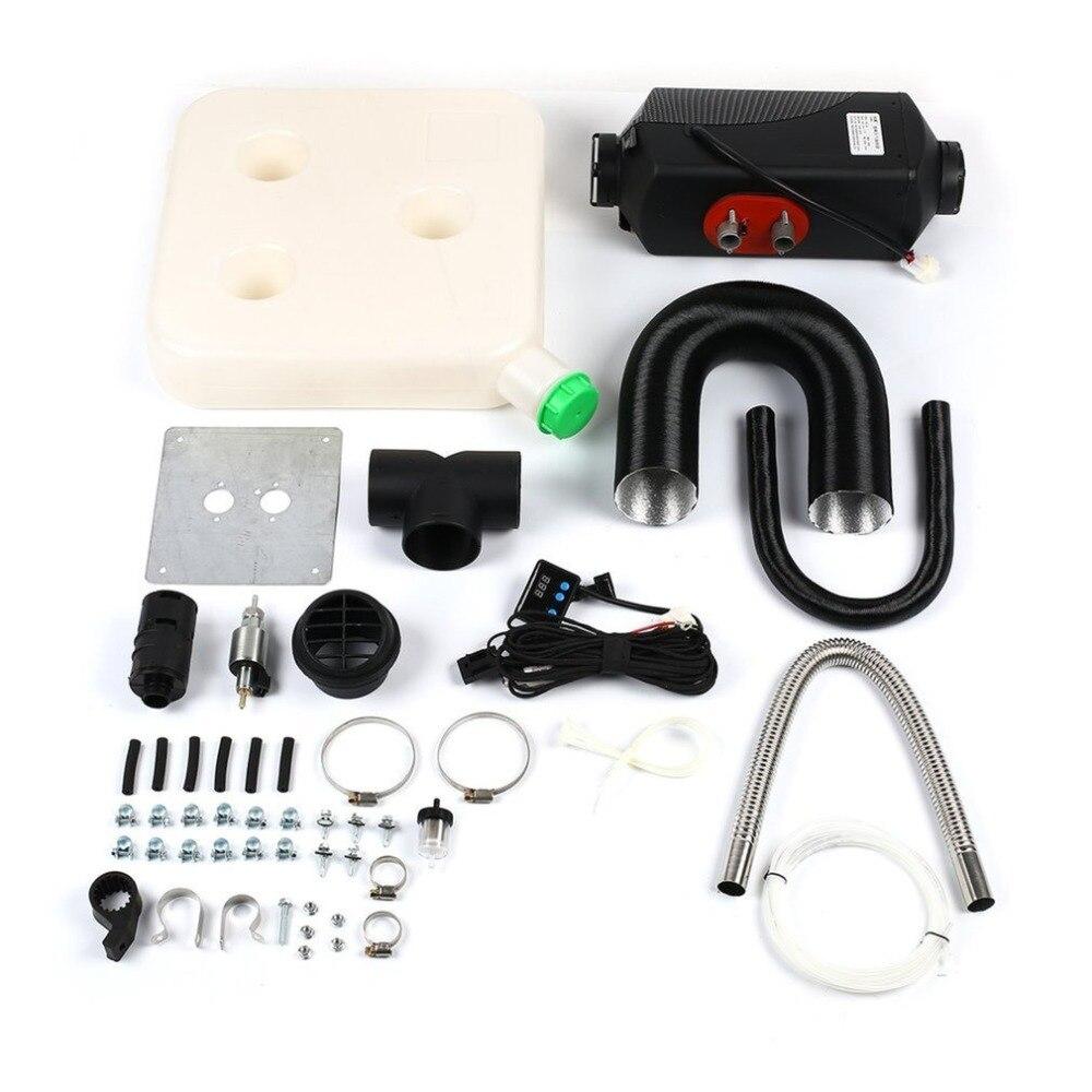 12 V/8000 W simple trou voiture chauffage LCD affichage dynamique télécommande silencieux électrique chauffage quatre trous
