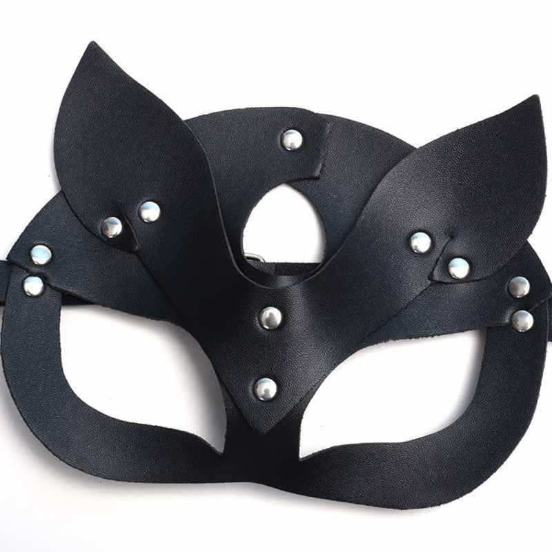 ผู้หญิงเซ็กซี่หน้ากากตาคอสเพลย์แมวหนัง COSPLAY หน้ากาก Masquerade บอลคาร์นิวัลแฟนซีหน้ากาก *