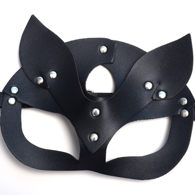 Women Sexy Mask Half Eyes Cosplay Face Cat Leather Mask Cosplay  Mask Masquerade Ball Carnival Fancy masks* 3