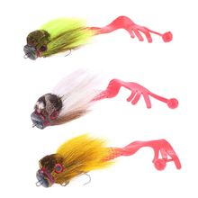 Soft Grub Shallow Hooks Big Bait 3D Deer Hair Mouse Lure Fishing Accessories 124F