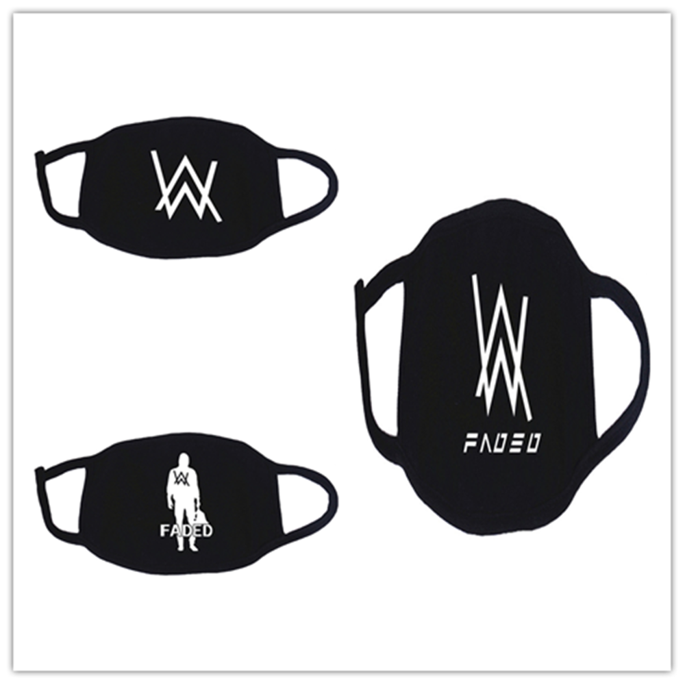New Cosplay Masks Alan Walker Face Mask Cartoon Print Protective Reusable Mask Dust Cosplay Masks Washable