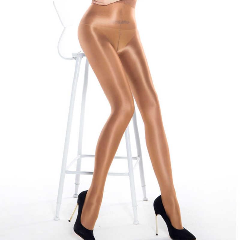 새로운 여성 스타킹 T-가랑이 반짝 이는 오일 라이트 스타킹 여성 장대 댄스 스타킹 란제리 Collant 섹시한 여성 오일 팬티 스타킹 스타킹