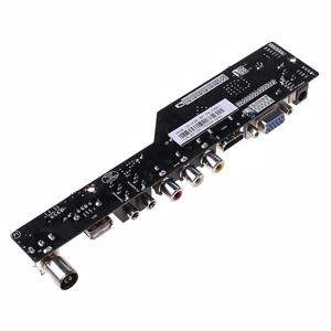 Image 5 - V53 LCD TV Controller Driver Board PC/VGA/HDMI/USB Interface + 7 Key Board Kit